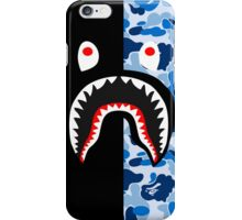 bape shark black blue iPhone Case/Skin