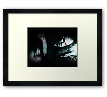 paint me with distorted lies.... Framed Print