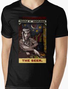 The Seer: from the Tarot of the Zirkus Mägi Mens V-Neck T-Shirt