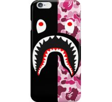 bape shark black pink iPhone Case/Skin