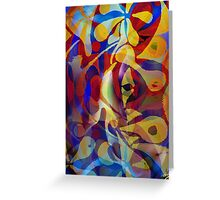 Acrylic Abstract Multi-colour Scheme Greeting Card