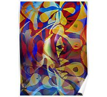 Acrylic Abstract Multi-colour Scheme Poster