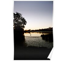 Late winter sunset Poster