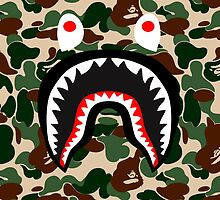 bape shark military by goldney09