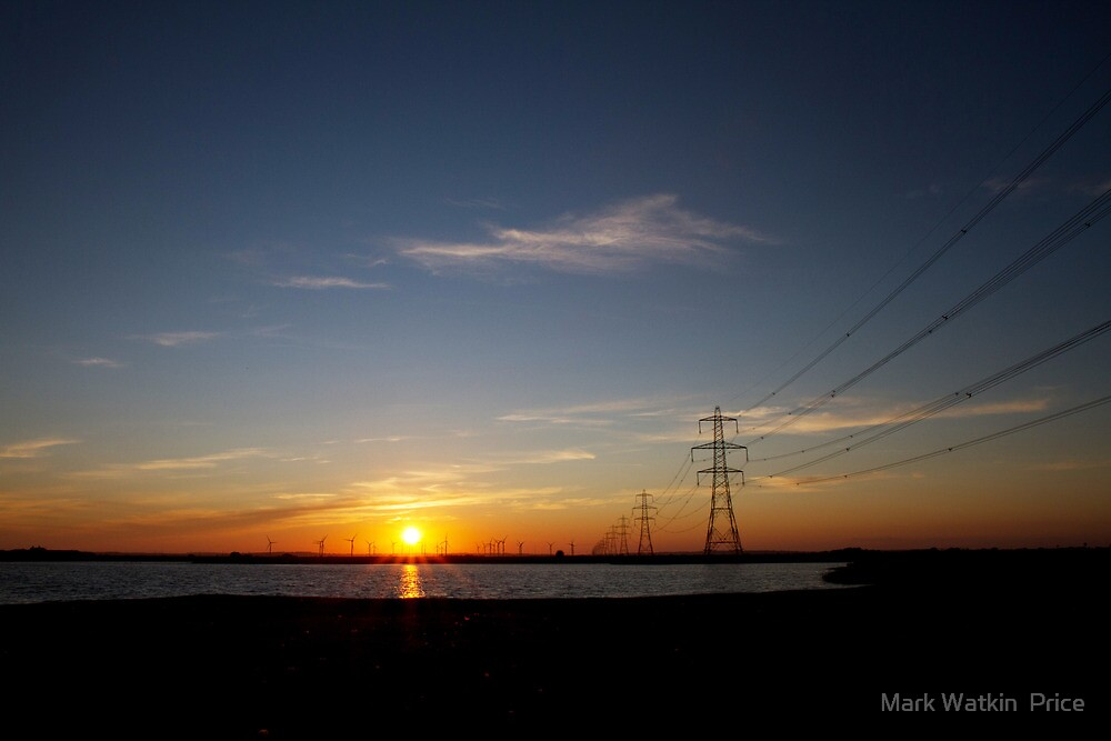 Wind Farm Sunset by Mark Watkin  Price
