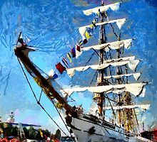 Mexican Ship Cuauhtemoc during The Tall Ships' Races in 2007 by Dennis Melling