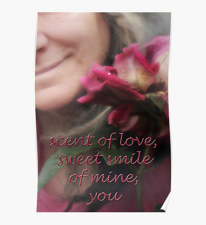 rose & smile Poster