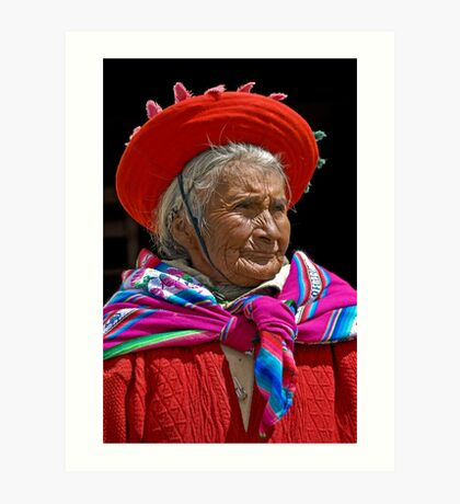 Peruvian grandmother Art Print