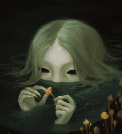 swamp girl lurking Sticker