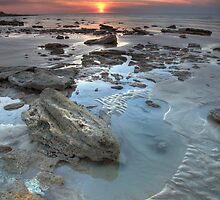 Nightcliff Rocky Sunset by Andrew Brooks