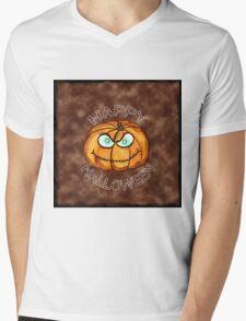 Happy Halloween Pumpkin Mens V-Neck T-Shirt