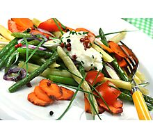 Green And Yellow Beans Salad Photographic Print