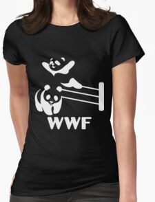 Funny Panda Womens Fitted T-Shirt
