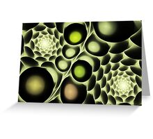 Hive Abstract Fractal Greeting Card