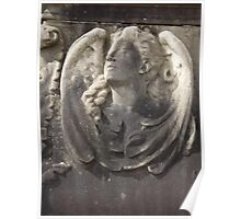 Norwood cemetary: Sculpture: Tombstone head/relief sculpture -(220811)- Digital photo Poster