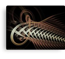 Unraveled Abstract Fractal Canvas Print