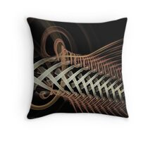 Unraveled Abstract Fractal Throw Pillow