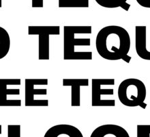Tequila Slogan Sticker