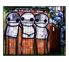 Street Art by Stik  Photographic Print