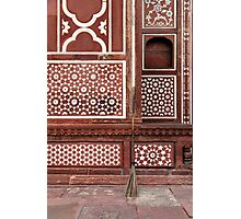 Gate of the Mausoleum of Itmad-ud-Daula, Agra Photographic Print