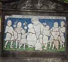 Norwood cemetary: Sculpture: Children mosaic  -(220811c)- Digital photo  by paulramnora