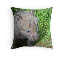 Holed Up ! Throw Pillow