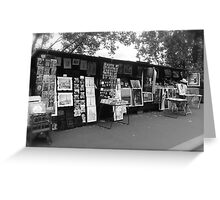 Souvenir stand by the Seine Greeting Card