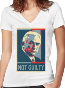NOT GUILTY Women's Fitted V-Neck T-Shirt