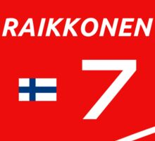 F1 2014 - #7 Raikkonen Sticker