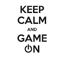 KEEP CALM GAMER Photographic Print