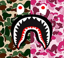bape shark miltpink by goldney09