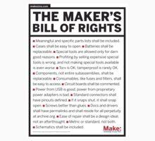 Maker's Bill of Rights Kids Tee