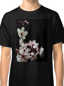 Beautiful blossoms on black Classic T-Shirt