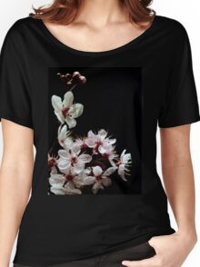 Beautiful blossoms on black Women's Relaxed Fit T-Shirt