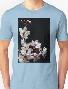 Beautiful blossoms on black T-Shirt