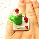 Strawberry Vanilla Ice Cream by souzoucreations