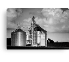 Midwest Structure B&W Canvas Print