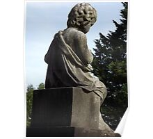 Norwood cemetary: Sculpture: Boy sitting/3/4's back view -(220811)- Digital photo Poster