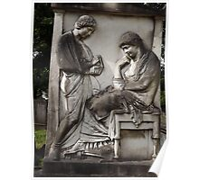 Norwood cemetary: Sculpture: 2 carved relief figures -(220811)- Digital photo Poster