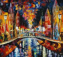 FASCINATING EVENING - original oil painting on canvas by Leonid Afremov by Leonid  Afremov