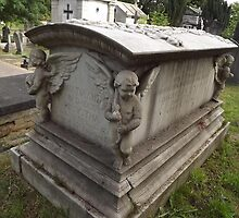 Norwood cemetary: Sculpture: Coffin/3 x boy angels -(220811)- Digital photo by paulramnora