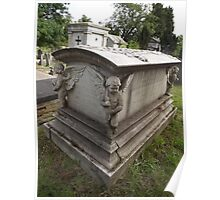Norwood cemetary: Sculpture: Coffin/3 x boy angels -(220811)- Digital photo Poster