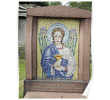 Norwood cemetary: Sculpture: Alter Cup Angel Mosaic -(220811c)- Digital photo  Poster