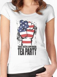 Take Back America Tea Party Shirt Women's Fitted Scoop T-Shirt