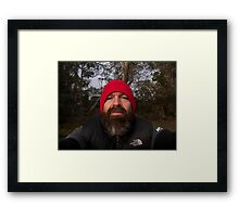 Self portrait of the artist as himself Framed Print