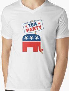 Tea Party Republican Shirt Mens V-Neck T-Shirt