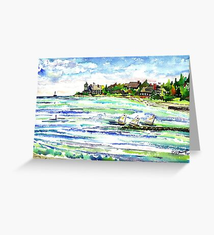 The Point @ New Silver Beach Greeting Card