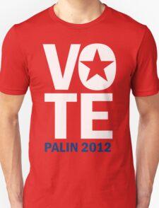 Vote Palin 2012 Unisex T-Shirt