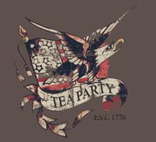Tea Party T Shirt One Piece - Short Sleeve