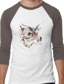 Tea Party T Shirt Men's Baseball ¾ T-Shirt